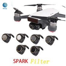New DJI Spark Filters Set 6Pcs ND4/8/16/32 CPL Circular Polarizer MCUV UV Camera Lens Filter Kit for DJI SPARK Drone Accessories