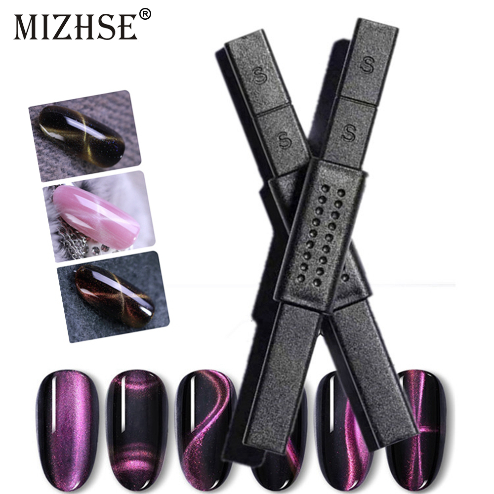 MIZHSE 3D Cat Eye Nail UV Gel Polish Thick Magnet Stick Tools For Cat Eyes Effect Strong Magnet Board Painting Gel Nail Polish