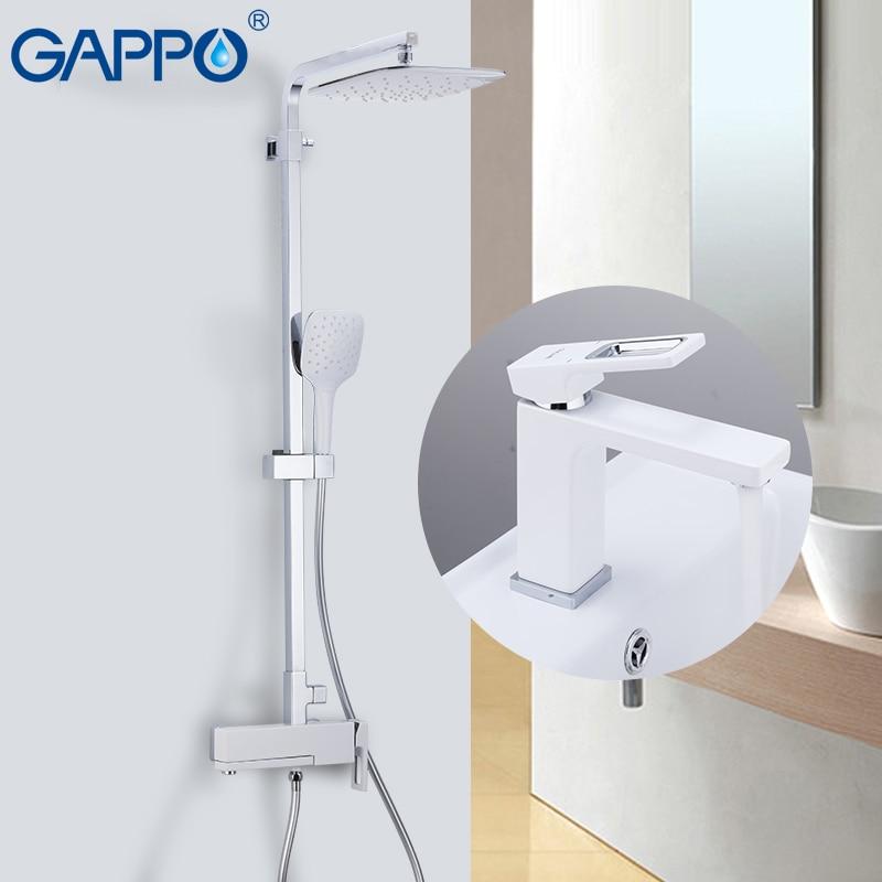 GAPPO Dusche System wasserfall chrome bad dusche mixer armaturen badewanne wasserhähne mit becken wasserhahn mitigeur baignoire-in Duschsystem aus Heimwerkerbedarf bei AliExpress - 11.11_Doppel-11Tag der Singles 1