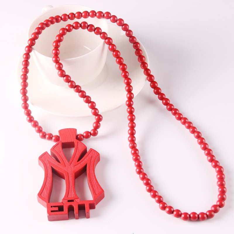 YOUNG MONEY ENT Good Quality Wood Pendant Wooden Ball Chain Necklace
