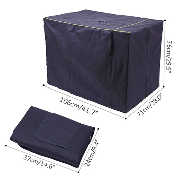 Dog Kennel Cover Waterproof Oxford Durable Dog  Cage Cover Foldable Outdoor Washable Pet Kennel Crate Cover kennel Accessories 5
