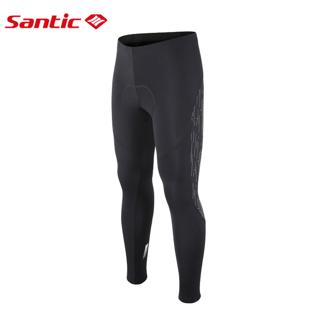 Santic mężczyźni rowerowe termiczne polarowe wyściełane spodnie Mtb wiatroszczelne 4D poduszka odblaskowe spodnie rowerowe utrzymuj ciepłe spodenki na rower tanie i dobre opinie Poliester Elastyczny pas Dzianiny Pasuje mniejszy niż zwykle proszę sprawdzić ten sklep jest dobór informacji M7C04095