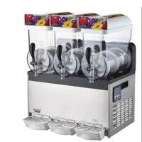 Три танки таяния снега машина коммерческих слякоть машина напитка льда и замороженные соковыжималка 15L * 3 1 шт.