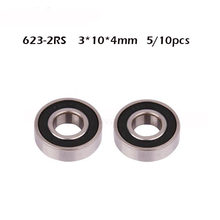 623RS Lager ABEC-1 3X10X4 Mm (5/10 Stuks) miniatuur 623-2rs Kogellagers 623 Rs 2RS Lager