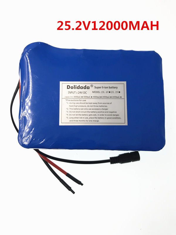 2018 New 25.2V 12000 mah 18650 Battery lithium battery 25.2v Electric Bicycle moped /electric/lithium ion battery pack+Charger 2016 promotion new standard battery cube 3 7v lithium battery electric plate common flat capacity 5067100 page 6