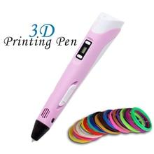 3D Stift 3D Drucker Stift 3D Druck Zeichnung Stift Mit 100 meter 20 Farbe ABS Filament Magie Maker Kunst LIX für Studenten geschenk