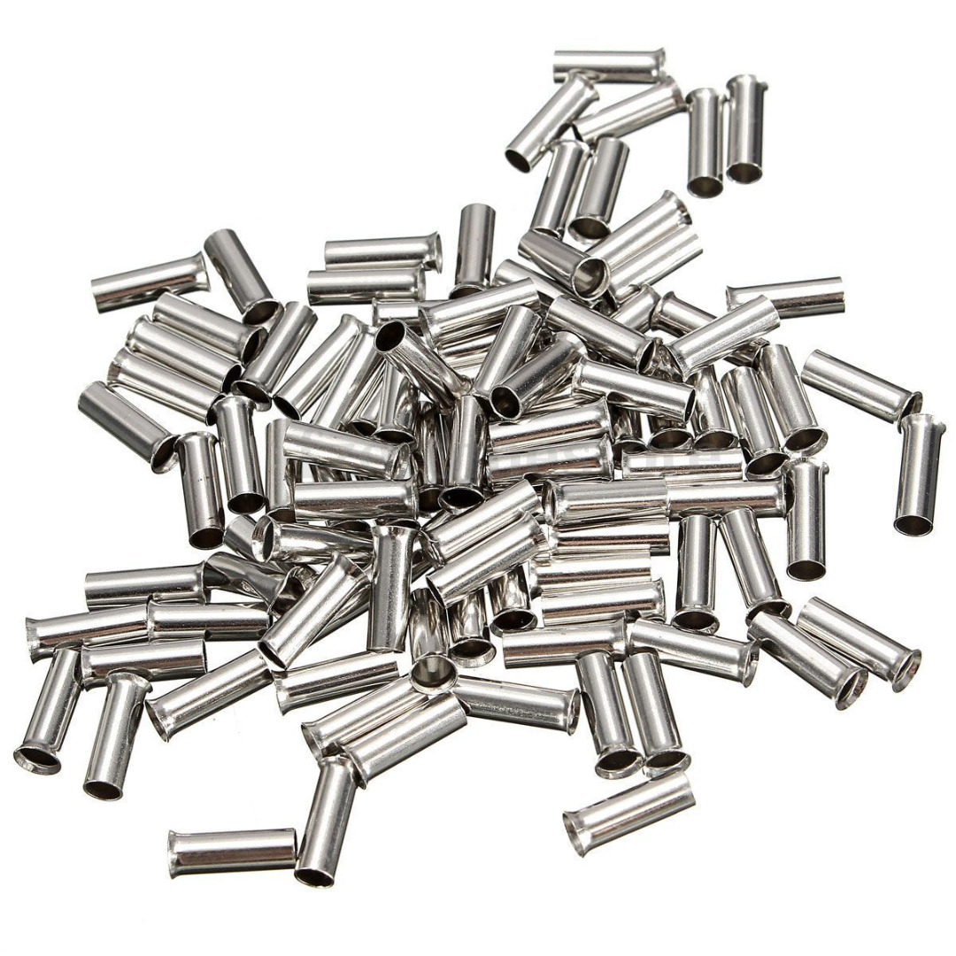 100pcs Ferrules Kits Cable Housing End Non Insulated Wire Strip ...