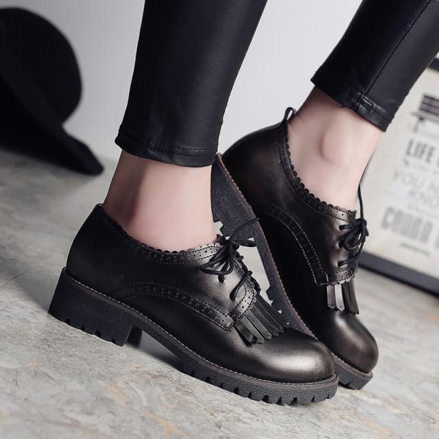 Chaussures automne à bout rond blanches Fashion femme AP4xxH