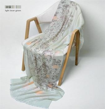 100%cashmere twill print women fashion super thin scarf shawl pashmina large size 70x200cm