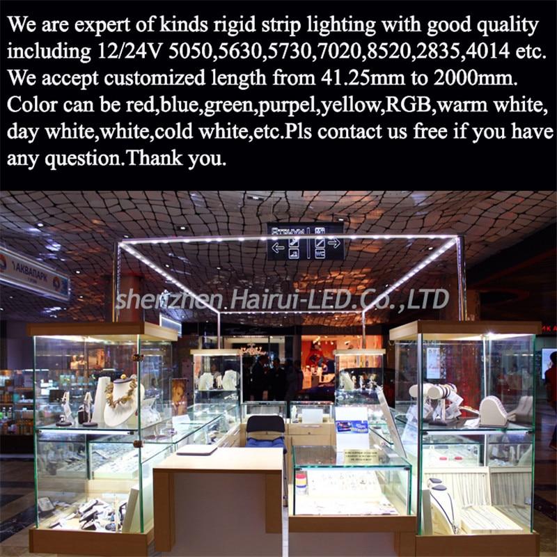 Image 2 - 10pcs/Lot  leds 0.5m LED bar light smd 5050 5630 7020 8520 4014 12V led rigid strip white warm cold RGB  under cabinet kitchen-in LED Bar Lights from Lights & Lighting