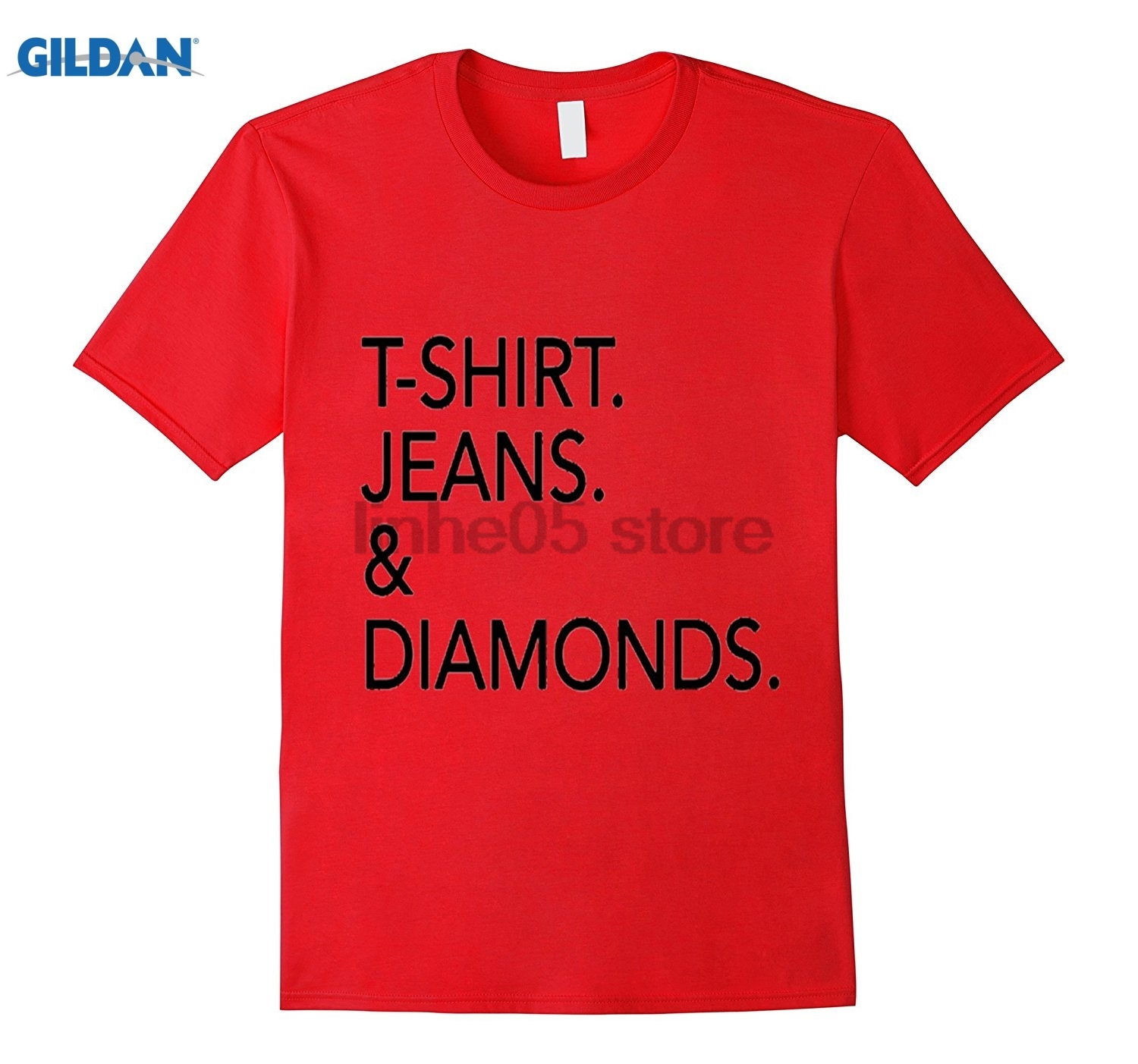 GILDAN T-Shirt. Jeans. & Diamonds. Womens Tee Shirt Mothers Day Ms. T-shirt