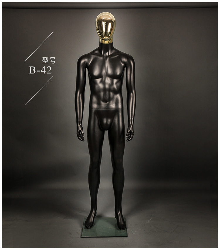 New Style Top Level Full Body Black Male Mannequin New Style Model ...