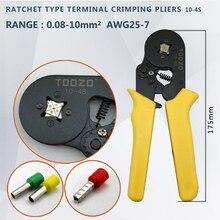 Hexagon Tube type terminal crimping pliers Terminal pliers10-4S 0.08-10mm 25-7AWG,10S 0.25-10mm 23-7AWG 0 25 10mm2 23 7awg insulated