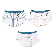 b7e36b81bfee2d Cotton Underwear Vertical Stripes Cute Cartoon Winter Snowman Bear Animal  Printed Briefs Student Girls Seamless Panties