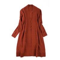 Высший сорт 100% Коза кашемир толстой вязки Женская мода бутик длинный свитер серый синий 3 вида цветов ЕС/L/XL