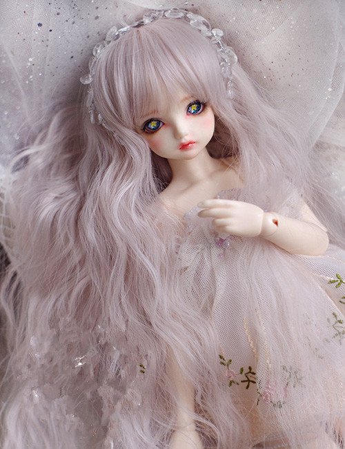 Image 2 - Doll wigs High temperature wire silk and pink mixed color wigs available for 1/8 1/6 1/4 1/3 BJD SD DD MDD doll accessoriesdoll wigdolls accessorieswire wig -