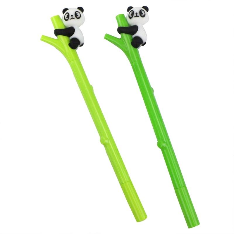 1pcs Green bamboo panda gel pen writing pens kawaii stationery caneta material office school supplies