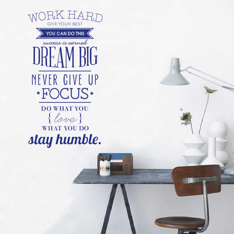Fashion Wall Decals Work Hard Dream Big Quotes Letters Stickers Home Decor  DIY In Wall Stickers From Home U0026 Garden On Aliexpress.com | Alibaba Group