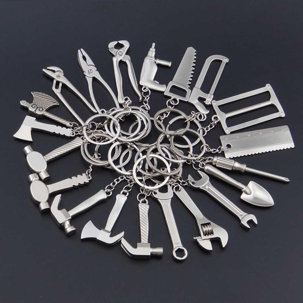 Suti keychain Portátil Ferramenta de Simulação de Alta-grade Forma Martelo Chave Chave Anéis Da Cadeia de Aço Inoxidável Presente de Aniversário