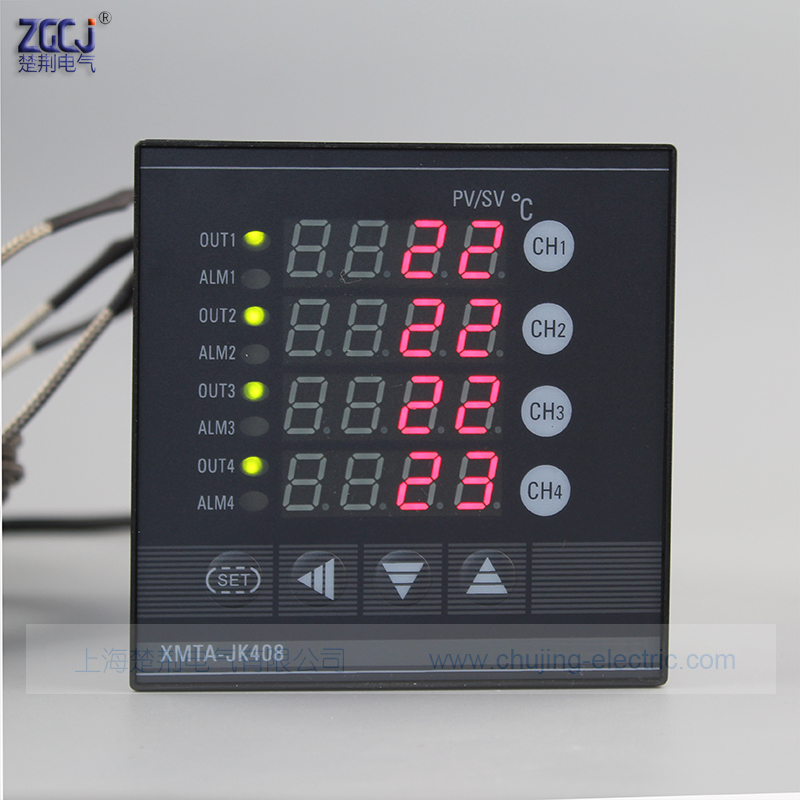 Multifuncion 4 ways temperature controller measure multi points 4 channels digital thermostat can connect with 4 sensorsMultifuncion 4 ways temperature controller measure multi points 4 channels digital thermostat can connect with 4 sensors