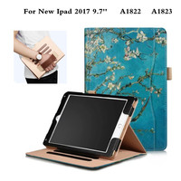 Functional Stand Super PU Leather Business Case for Apple New IPad 9.7 inch 2017 Release A1822 A1823 Tablet PC Cover Cases