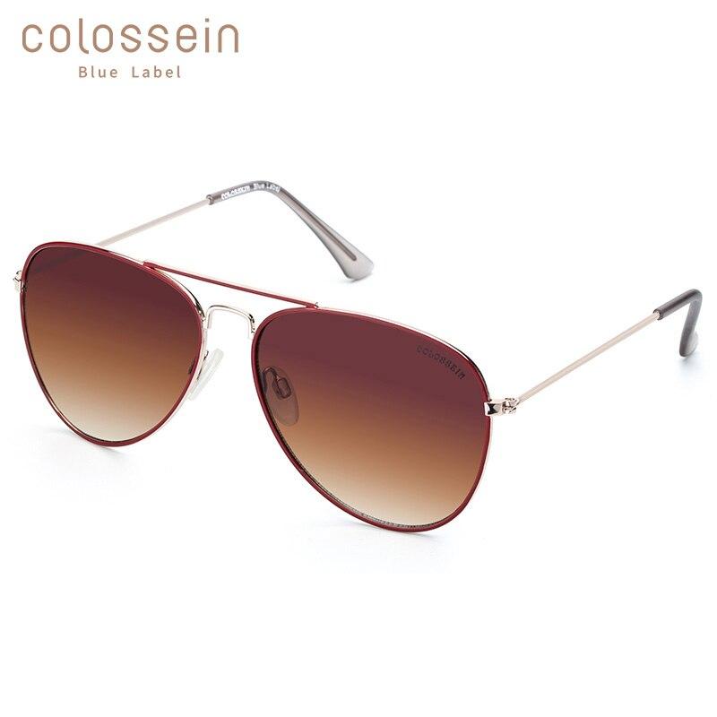 COLOSSEIN Sunglasses Women Pilot Unisex Coating UV400 Men Metal Eyewear Gradient Lens Goggles Eyewear Oculos De Sol Feminino