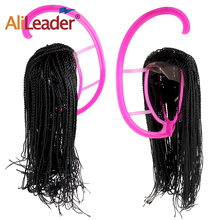 Вешалка для шиньона Por Съемная дисплей сушилка для волос для парики портативная вешалка для париков профессиональная Подставка-манекен
