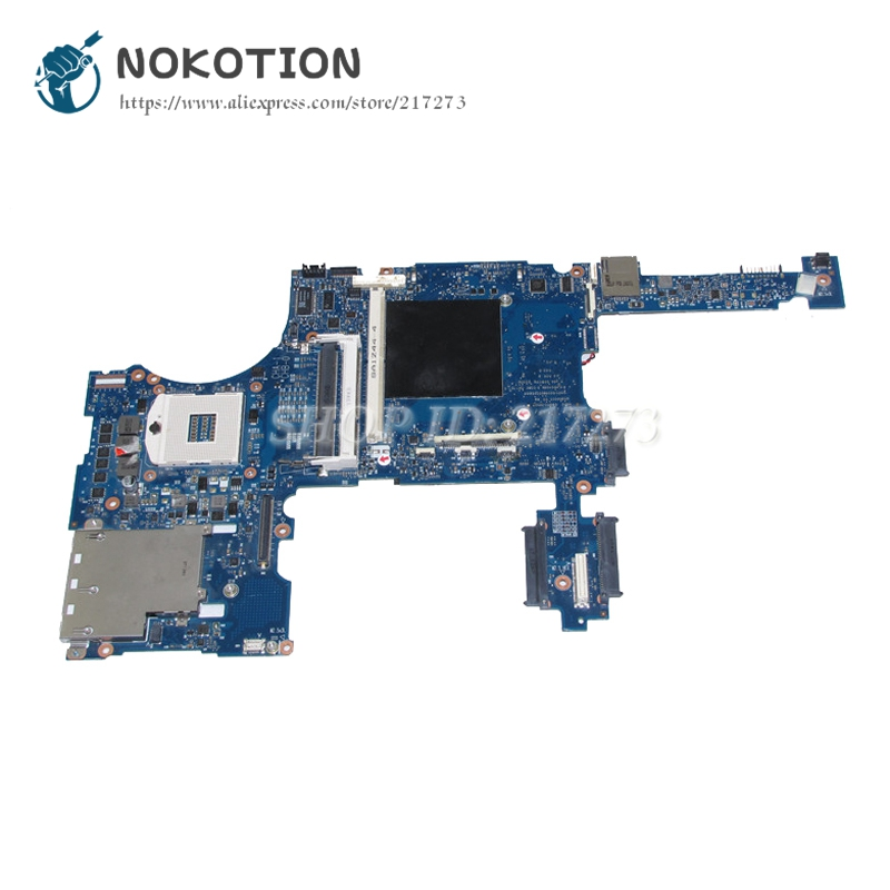 NOKOTION For HP 8760W 8760P Laptop Motherboard 652509-001 652508-001 MAIN BOARD QM67 DDR3 with graphics slot free shipping 690643 001 motherboard for hp elitebook 8570w system board main board hd4000 j8a with graphics slot 100