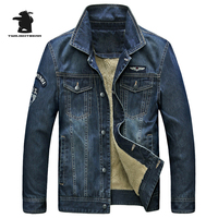 2017 New Men S Fleece Denim Jacket Brand Winter Fashion High Quality Plus Size Casual Denim