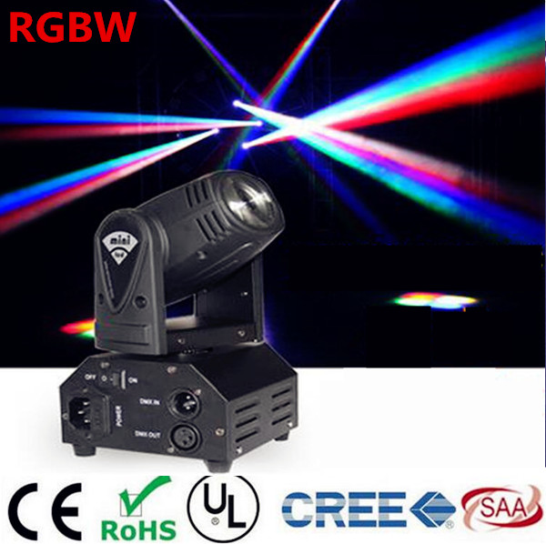12W Mini  moving head DMX512 light beam Lights  LED spot Lighting DJ Show Disco Laser Light RGBW 4in1 led  4pcs/lot 10w disco dj lighting 10w led spot gobo moving head dmx effect stage light holiday lights