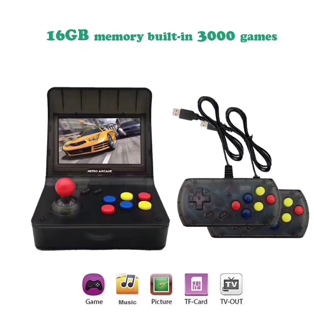 Retro Video Game  Portable Mini Handheld Game Console 4.3 Inch 64bit With 3000 Classic Games Dual Gamepads ControlsRetro Video Game  Portable Mini Handheld Game Console 4.3 Inch 64bit With 3000 Classic Games Dual Gamepads Controls