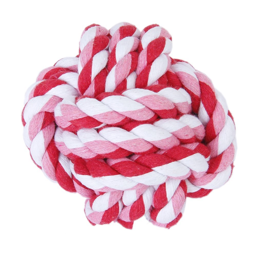 SZS Hot Pet Dog Braided Cotton Rope Knot Chew Toys Games Teeth Clean Balls Diameter 9 cm