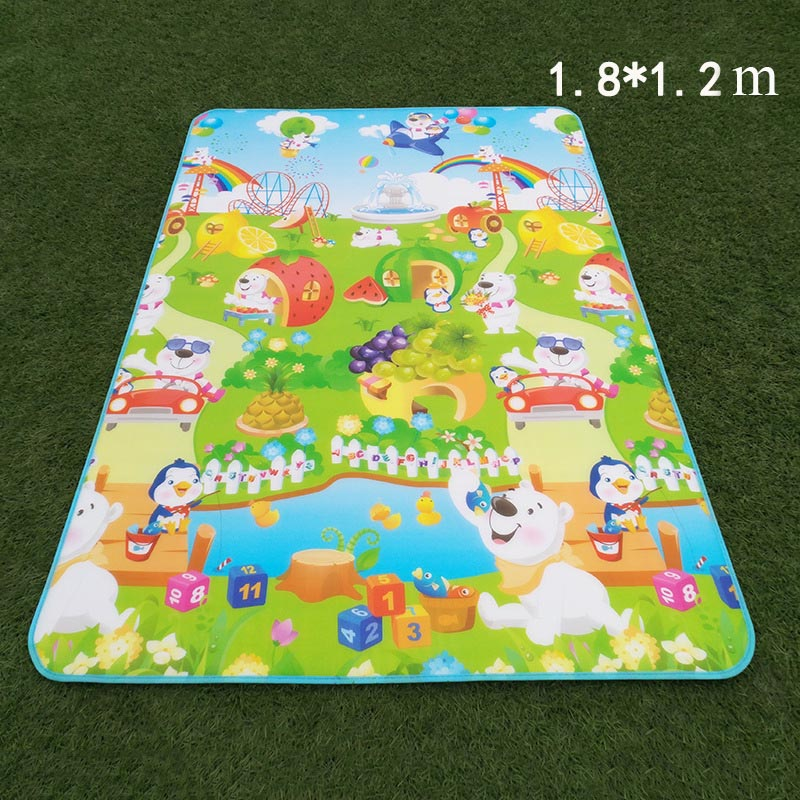 HTB1XuFuavb2gK0jSZK9q6yEgFXaj 0.5CM 1CM Baby Play Reversible Crawling Mat Foam Puzzles Carpet Kids Rug Animal Developing Pad for Children Soft Floor Game Toys
