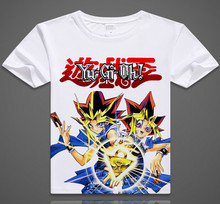 New Free Shipping Anime Yu Gi Oh Pharaoh Clothing Cosplay Costume T-shirt Short Sleeve(China)