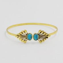 Women Vintage Retro Antique Gold Silver Open Cuff Bangle Charm Bracelet feminina Jewelry Gift