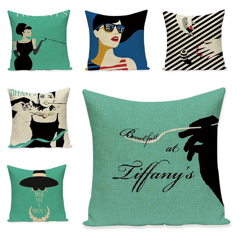Pillow Case Tropical Travel Painting Throw Waist Cushion Cover Car Sofa Decor