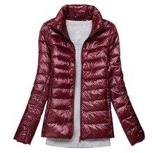 Plus size 5xl 6xl 7xl casaco de inverno feminino ultra leve pato branco para baixo jaqueta primavera fina jaqueta quente à prova vento para baixo casaco