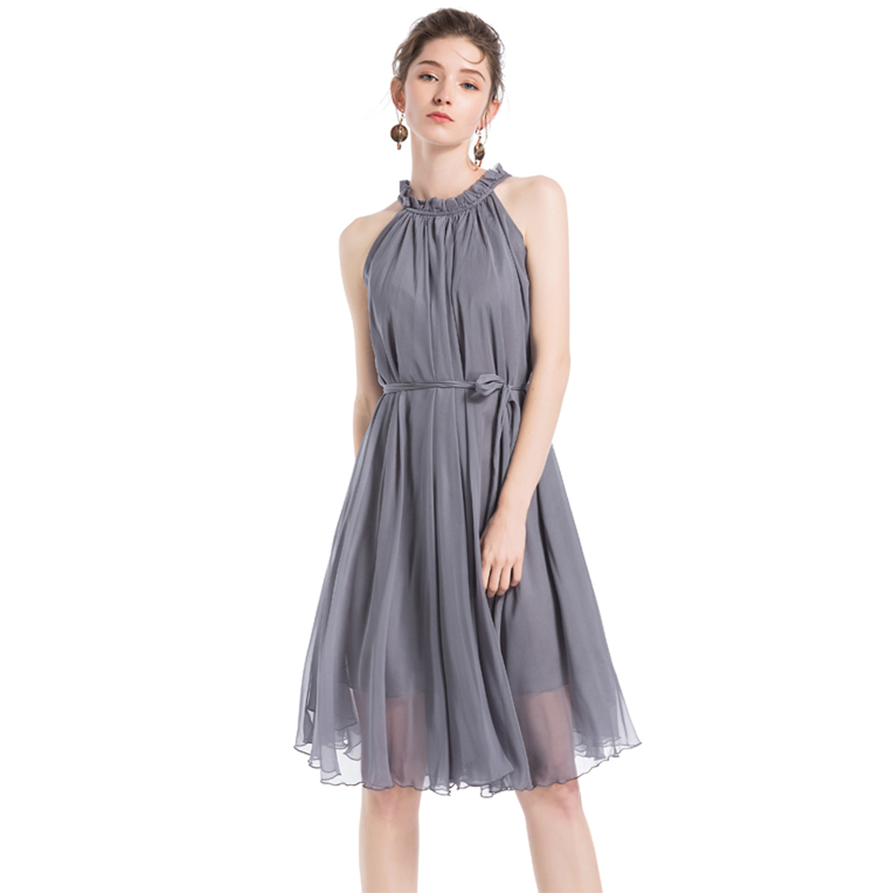 2018 Lightweight Flowy Sundress Bridesmaid plus size celebrity/graduation/Dinner Dress Beach Wedding Guest Sundress