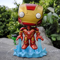 FUNKO POP The Avengers Iron Man Mark-43 No.66 Vinly Bobble-head PVC Action Figure  Collectible Model Toy gift for kids