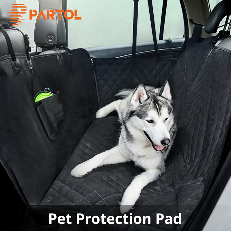 Partol Pet Dog Car Seat Covers Waterproof Back Bench Seat Travel Accessories Auto Seat Cover Mat Hammock Protector Oxford Cloth seat cover waterproof oxford dog auto car blanket trunk mat back seat cover cushion pet vehicle nonslip folding seat cover