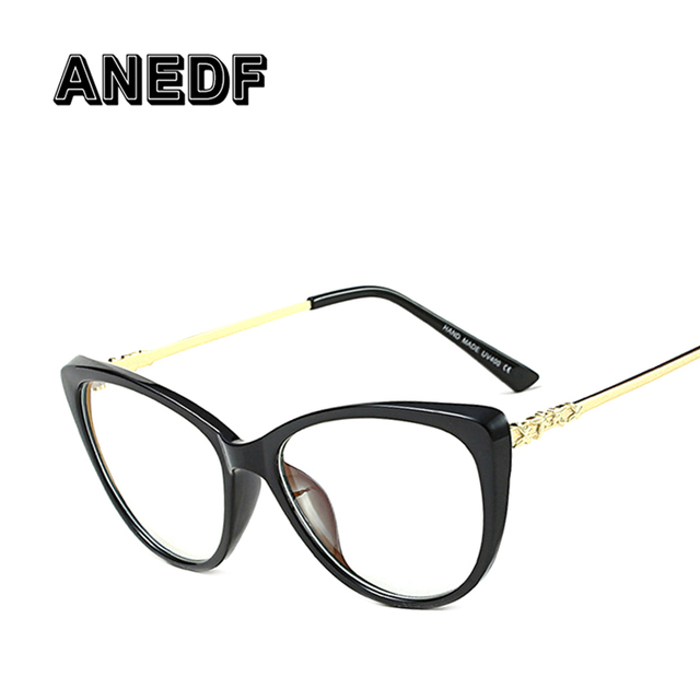ANEDF Eyeglasses Frame Women Computer Optical Vintage Glasses Frame Eye Glasses Women Transparent Clear Lens Oculos de