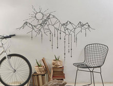 Geometric Mountain Sun Arrows Patter Wall Sticker Vinyl Home Decor Nursery Decals Removable Adhesive Mural House Decoration NR37