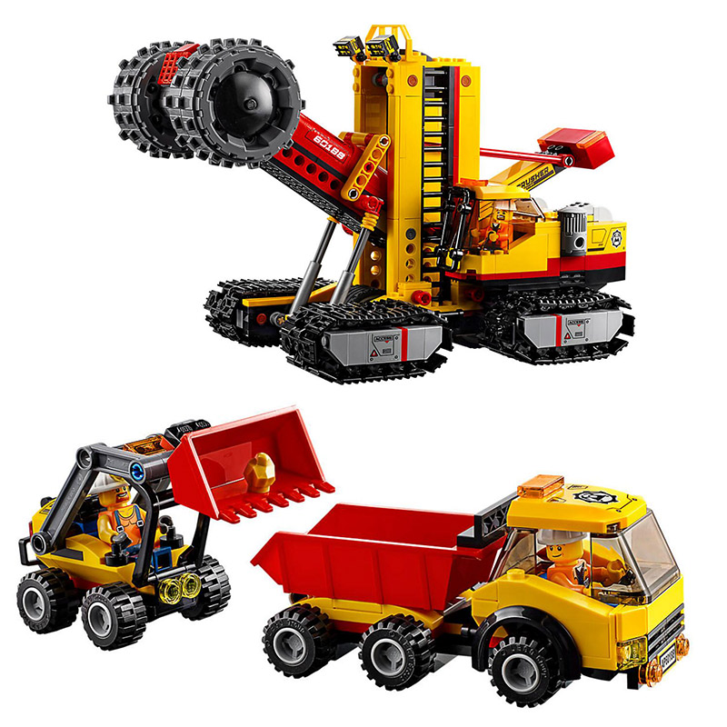 цена на City Series Mining Experts Site Engineering Construction Team Building Blocks Bricks Toy Compatible With Legoings 60188