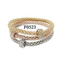 Elegant Dice Butterfly Owl Heart Friendship Rhinestone Gifts Charm Bracelets For Women