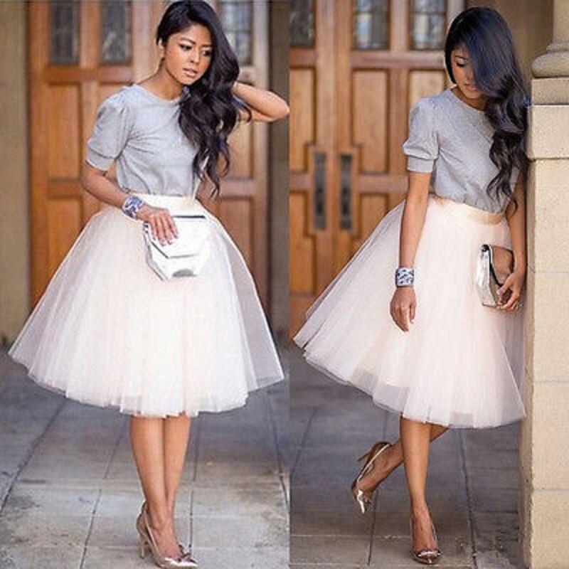 6eefe6f73 € 5.05 26% de DESCUENTO|Chiffon plus tamaño Tutu tul falda de gasa de las  mujeres falda de tul blanco negro faldas Vestido de cintura alta-in ...