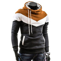 New Fashion 2016 Spring Autumn Mens Casual Slim Fit Hooded Hoodies Mens Sweatshirt Sportswear Male Outwear