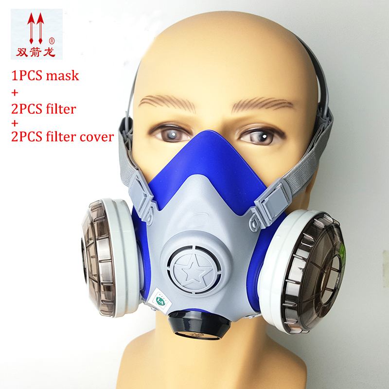 High quality Spray Mask Respirator Gas Protect Mask Anti-Dust Chemical Paint Dust Spray Face Mask Dual Cartridge Mask бутсы puma evospeed sl ii fg 10366203