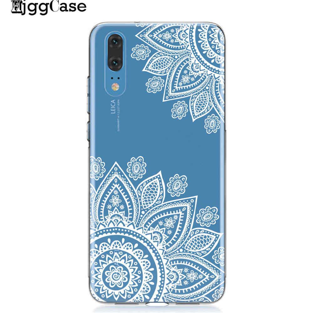 الرجعية ماندالا زهرة حافظة لهاتف Huawei P8 P9 لايت 2017 P10 P20 P30 لايت غطاء لينة TPU حالات الهاتف لهواوي زميله 10 20 لايت برو