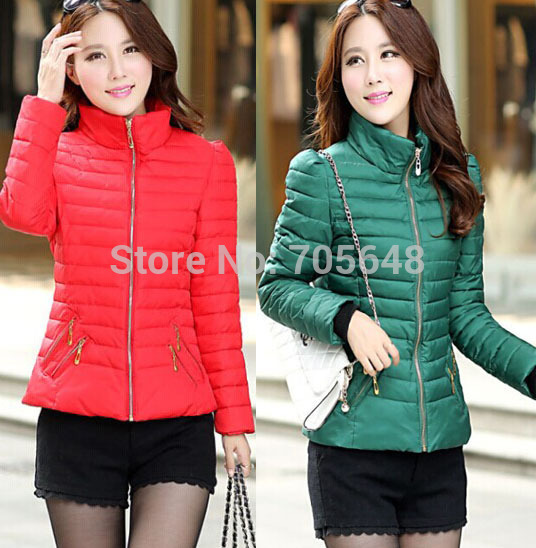 on sale cute girls  2016 Casaco Feminino Inverno Winter autumn Jackets Women Slim Office Ladies Zippers Plus Size Coats Jaquetas