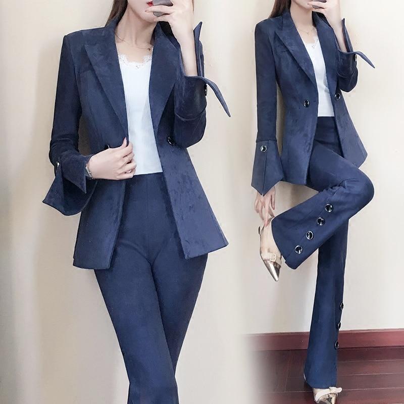 Solide Pantalon Deux 1 Blazers Qualité 2 Haute Nouveaux Costume Et Slim De Long Costumes Femmes Pièces Ensembles Féminin Simple Veste AEXqw4C